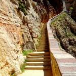 Aufstieg von der Grotta Di Nettuno auf Sardinien