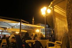 In gelb getauchter Piazza Jenne in Cagliari
