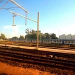 Zugstrecke nach Cagliari auf Sardinien