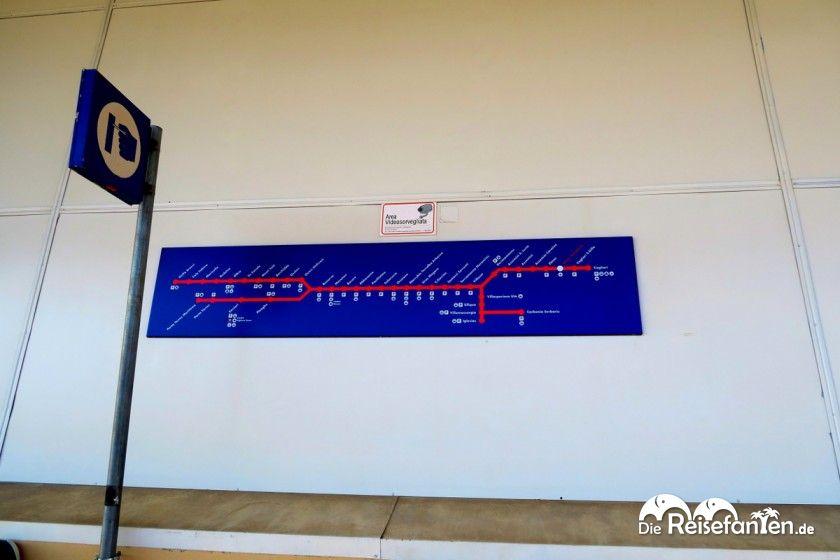 Zugverbindung vom Flughafen Cagliari in die Innenstadt