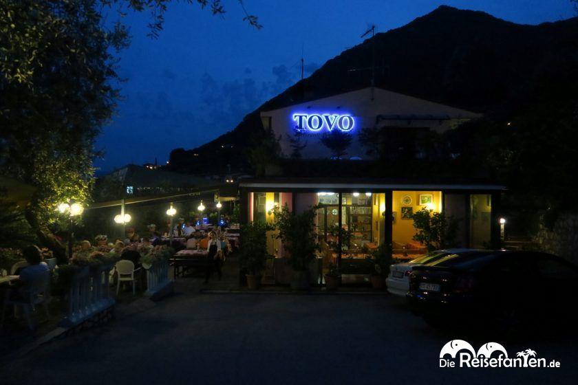 Abendessen im Restaurant Tovo in Limone