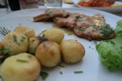 Scaloppine im Restaurant Jacky Bar in Limone