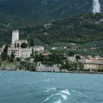 Malcesine von der Fähre von Limone sul Garda nach Malcesine aus gesehen