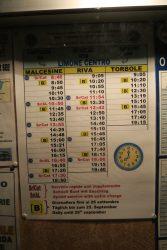 Der Zeitplan 2016 der Fähre von Limone sul Garda nach Malcesine