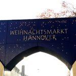 Eingangschild zum Weihnachtsmarkt in Hannover