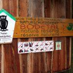 Hinweisschild im Bodetal im Harz