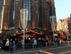 Die Marktkirche zum Weihnachtsmarkt in Hannover