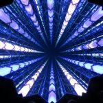 Blick nach oben im Aufzug des OUE Skyspace in Los Angeles