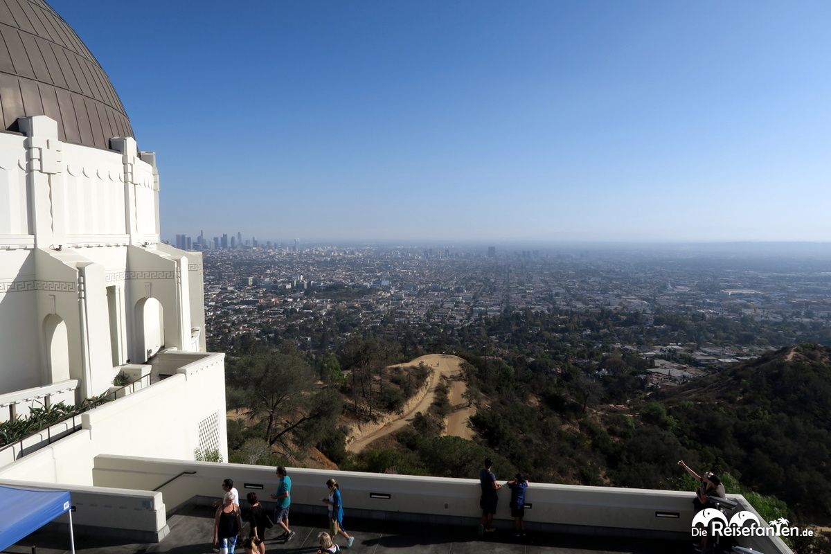 Blick vom Griffith Observatory auf dem Mount Hollywood