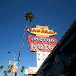 Blick auf das Saharan Motor Hotel in Hollywood