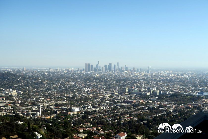 Downtown Los Angeles vom Griffith Observatory aus gesehen