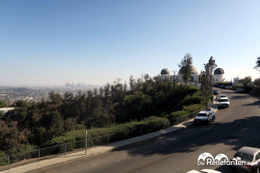 Zufahrtsstraße zum Griffith Observatory auf dem Mount Hollywood