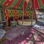 Das große Zelt im Garten des El Morocco Inn Spa