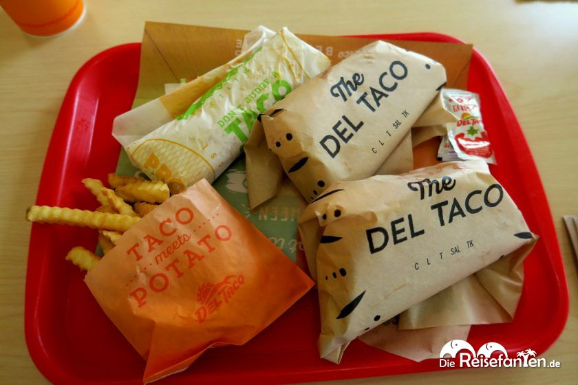 Mexikanische Fast Food Auswahl bei Del Taco