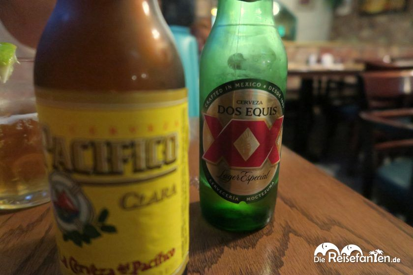 Mexikanisches Bier im Restaurant South of the Border in Desert Hot Springs
