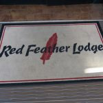 Die Fußmatte der Red Feather Lodge am Grand Canyon