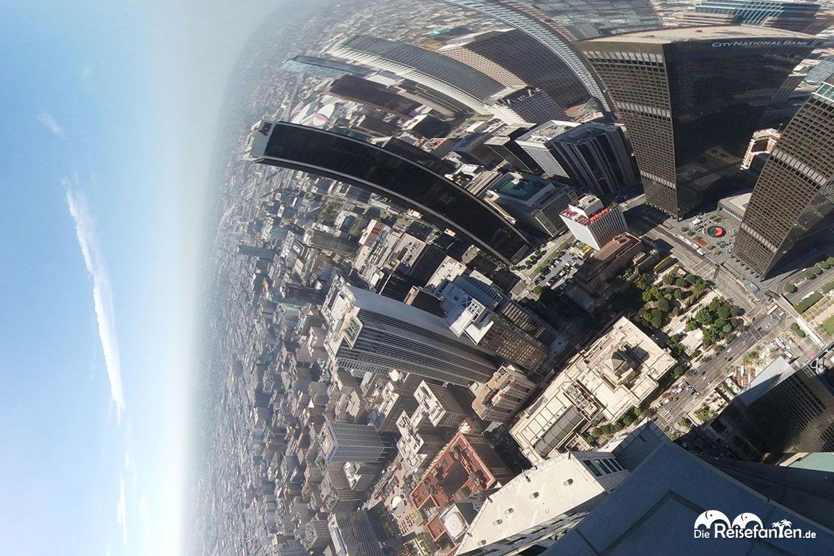 Interaktive Ansicht aus dem OUE Skyspace in Los Angeles