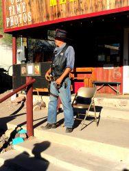 Sheriff in Oatman in Arizona