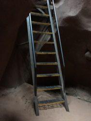 Aufstieg aus den Lower Antelope Canyon