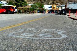 Oatman liegt an der bekannten Route 66