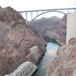 Blick flussabwärts des Hoover Dam