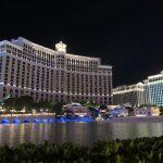 Kurz bevor es vor dem Bellagio in Las Vegas losgeht