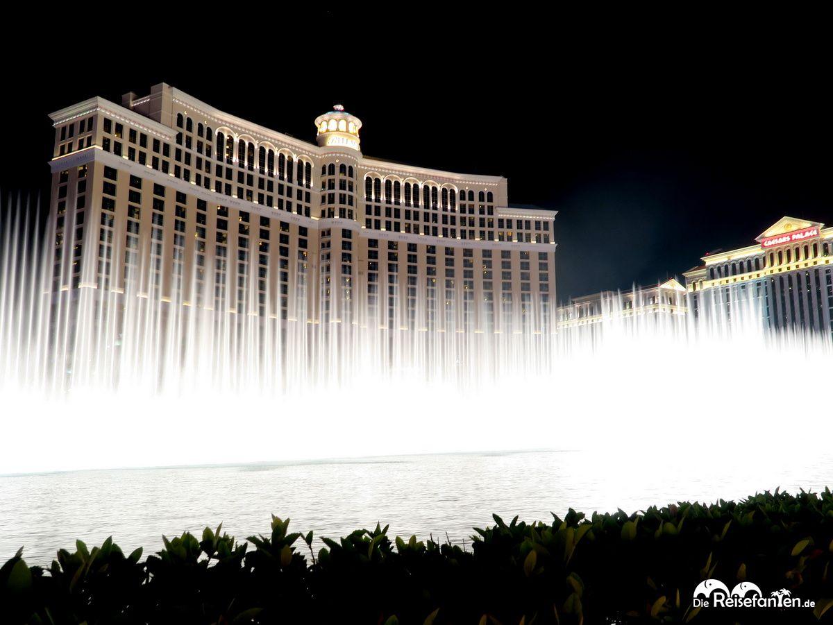 Wasser in Bewegung vor dem Bellagio in Las Vegas