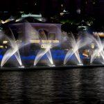 Wasser tanzt zur Musik vor dem Bellagio in Las Vegas