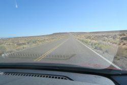 Fahrt zum Aussichtspunkt oberhalb des Lake Powell in Arizona