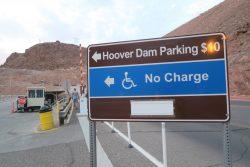 Parkmöglichkeiten am Hoover Dam