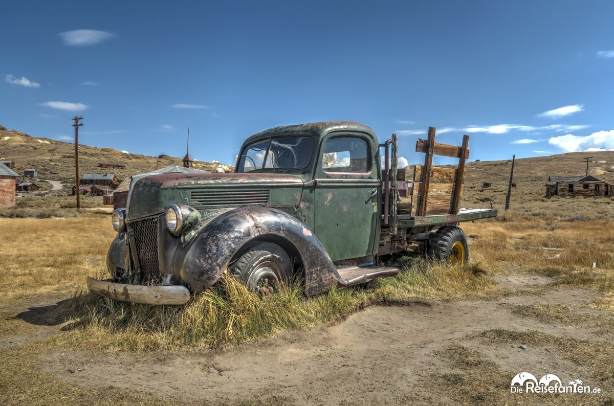 Dieser Lastwagen transportiert in der Geisterstadt Bodie nichts mehr