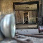 Ein verlassenes Haus in der Geisterstadt Bodie