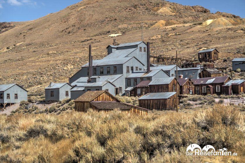 Die Mine in der Geisterstadt Bodie