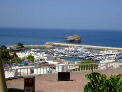 Blick auf die Marina von Muscat