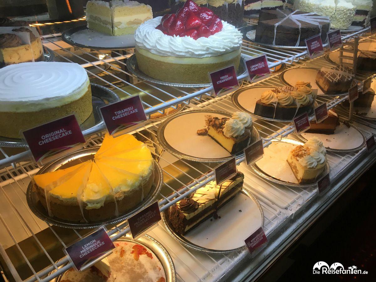Bunte Auswahl in der Cheesecake Factory
