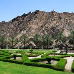 Gepflegte Grünanlage in Muscat