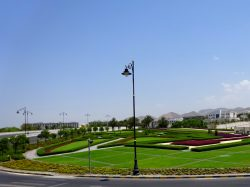 Grünanlage vor dem Royal Opera House in Muscat