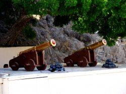 Kanonen am alten Fort von Muscat