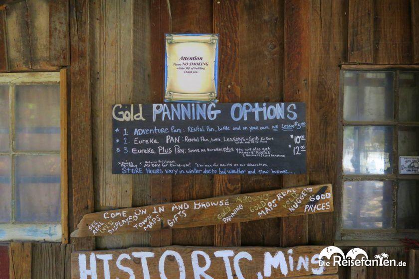 Goldschürfen mit oder ohne Anleitung im Columbia State Historic Park