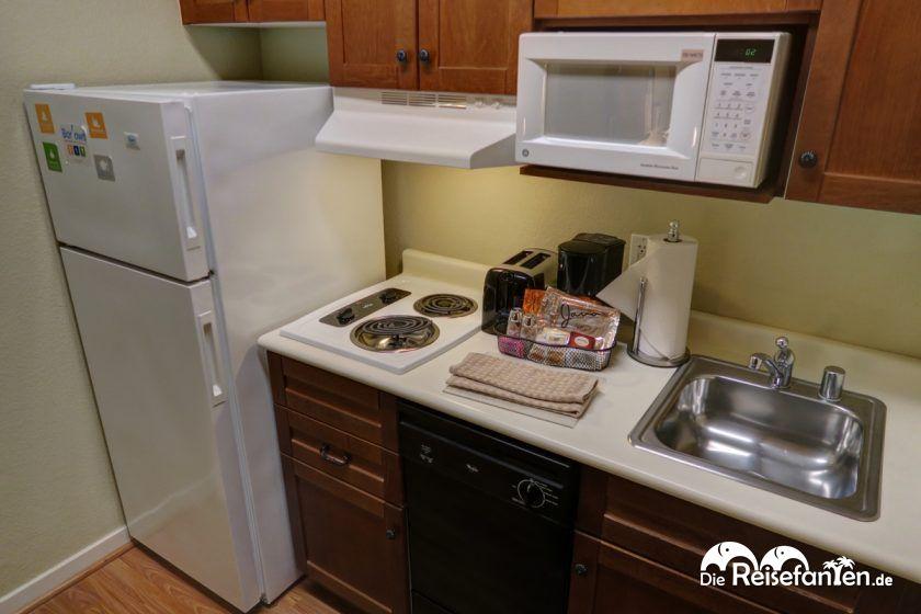 Küchenzeile im Hyatt House San Ramon