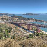 Blick auf die Nordauffahrt der Golden Gate Bridge in San Francisco