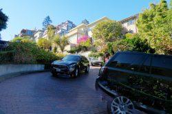 Einspurige Lombard Street in San Francisco