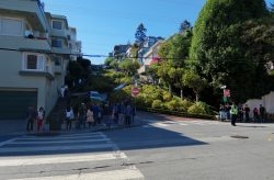 Blick auf die Lombard Street in San Francisco