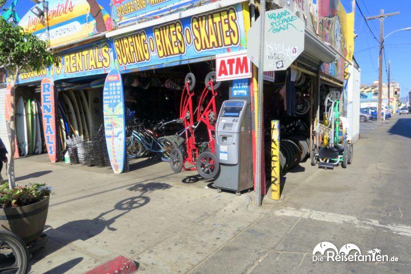 Fahrrad und Surfbrettverleih am Venice Beach