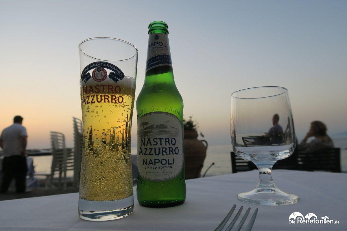 Ein Bierchen im Ristorante Don Vito