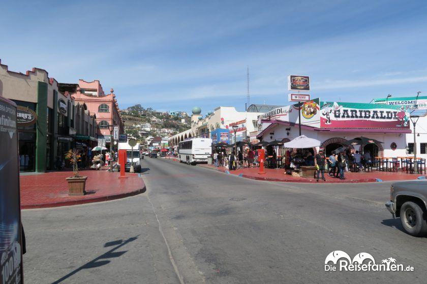 Straßenkreuzung in Ensenada