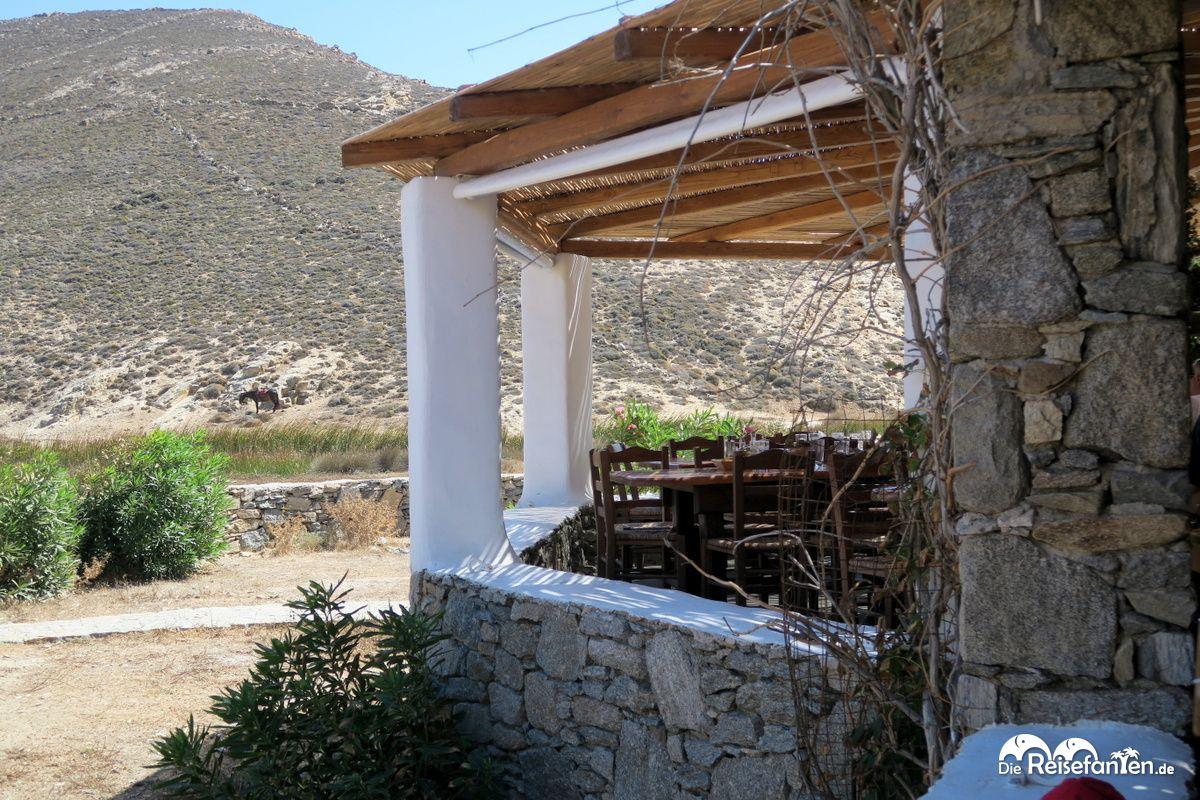 Die Taverna Fokos befindet sich naher der gleichnamigen Bucht