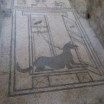 Schönes Bodenmosaik in Pompeji