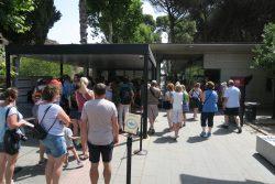 Der Eingangsbereich von Pompeji