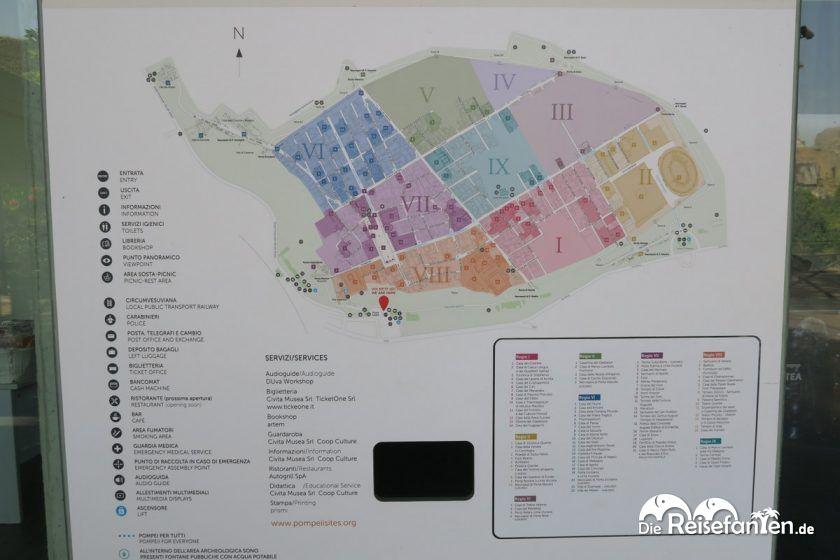 Die Karte von Pompeji